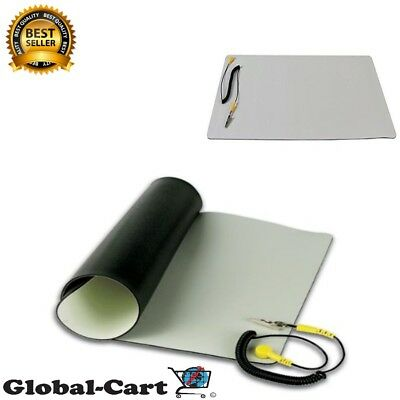 """Repair Anti Static ESD Mat Kit With Ground Cord 11.8"""" x 22"""" Desktop Table Roll"""