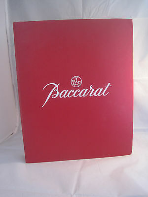 Baccarat Crystal 1986 Product Catalog Binder