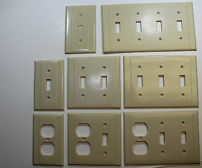 Smith & Stone (General Electric) Vintage Bakelite Electrical Covers in Ivory