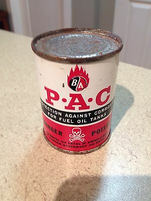 BA British American Oil Can 4 Oz Full collectible Vintage Near  NOS