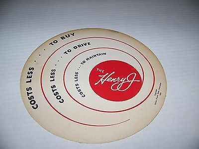 Henry J Flying Saucer Advertising Piece