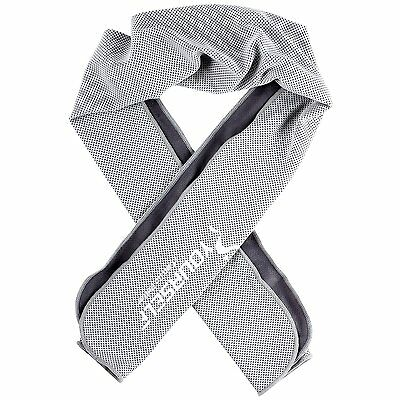 Instant Cooling Towel Sports Gym Fitness Golf Yoga Sweat Scarf 100x30cm Gray