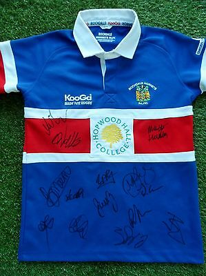 Rochdale Hornets Shirt Hand Signed by 2017 Squad - COA - Rugby - 14 Autographs