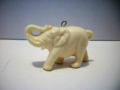 VINTAGE Celluloid Large ELEPHANT Charm Trunk up