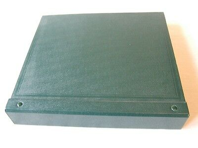 Stanley Gibbons Green Devon 2-Peg Stamp Album & Quadrille Leaves, Excellent Cond