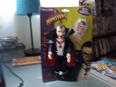 Rare Universal Monsters Dracula Action Figure & Candy By Shelcore. On Card.