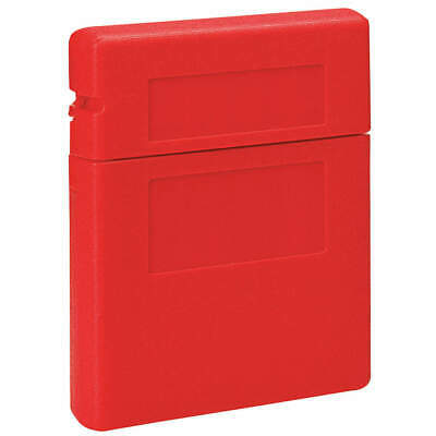 JUSTRITE Plastic Document Box,10-1/4 In. W,2-1/4 In. D, 23303, Red
