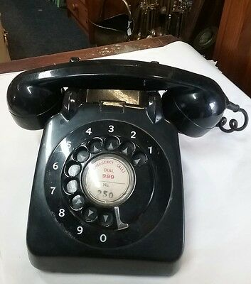 vintage post office 712 black dial telephone