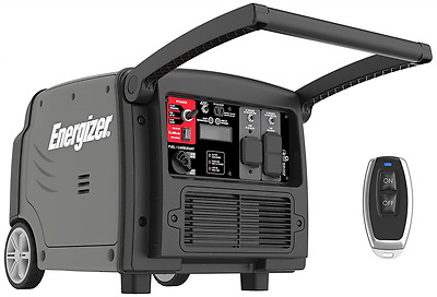 Energizer EZV3200 3200W Portable Gas-Powered Inverter Generator with Electric an