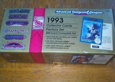 1993 advanced dungeons & dragons collector cards factory set