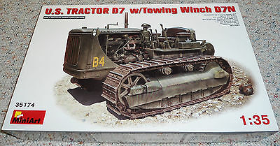 MiniArt 1/35 Caterpillar D7 Tractor w/ Towing Winch