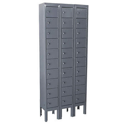 GRAINGER APPROVED Cell Phone Locker,3 Wide,10 High,Gray, 10Y621, Gray