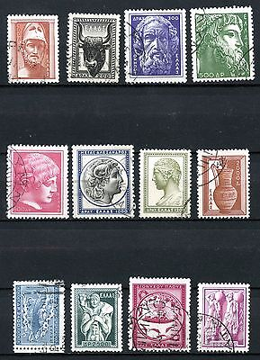 Greece 1954, Scott #556 - 567, complete series, used, some hinges