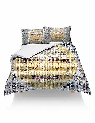 Single Emoji Multi Emoticon Design  Duvet Set Quilt Cover And  Pillowcase