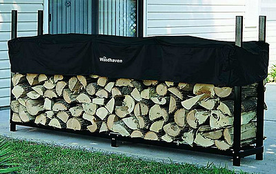 Woodhaven 8' Firewood Rack and Seasoning Cover