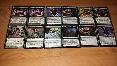 (8) 82 Green Magic The Gathering Cards. MOST DIFFERENT New Sleeves. PICTURES ALL