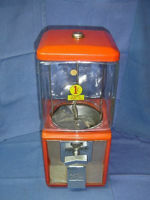 One Cent Cabinet Northwestern Gumball Machine All Original Glass No Key