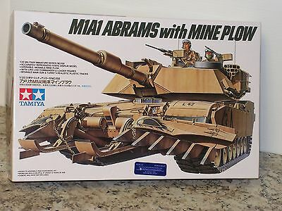 TAMIYA #35158 1/35 U.S.M1A1 ABRAMS with MINE PLOW TANK OPEN/FSI