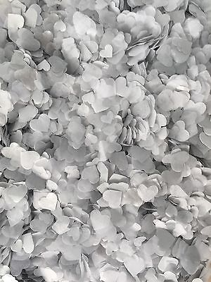 6000 Biodegradable Wedding Decoration Confetti Hearts, White And Silver