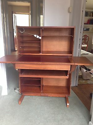 Vintage 1960s Compact Home Office Unit for Computer & Workstation.
