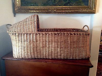 Antique Vintage Native American Indian Cradle Basket - Ash Wood - Museum Quality