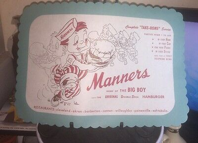 1950s NE OHIO MANNERS BIG BOY BURGERS TAKE OUT SERVICE TELEPHONE Placements (2)