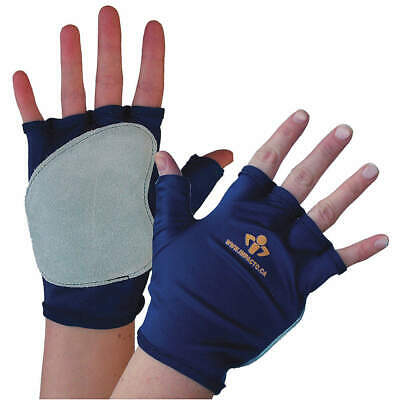IMPACTO Impact Gloves,L,Bl/Gr,Fingerless,PR, 50110110040, Blue, Gray