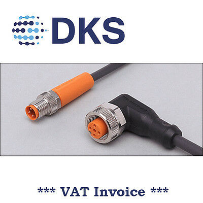 IFM EVC253 M8/M12 Straight/Angled 3 Pin 2m PUR Sensor Extension Cable 000305