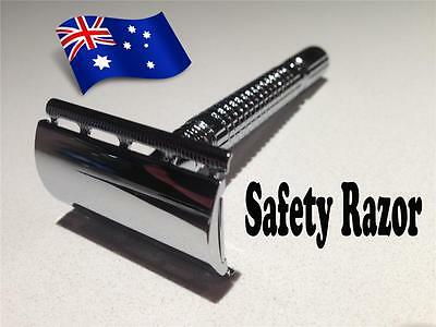 Stainless Steel Safety Razor and 20 Top Quality Blades