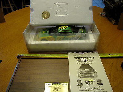 John Deere  Chad Little Race Car With Display Case #5772   New In Box  L@@k!!!