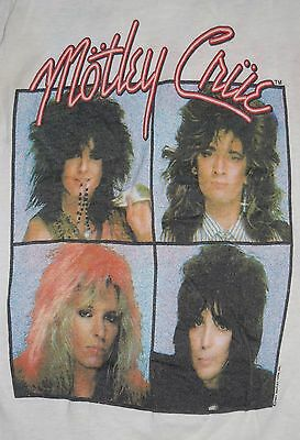 Original Vintage MOTLEY CRUE 1987 Girls 2sided T-Shirt Cut Sleeveless