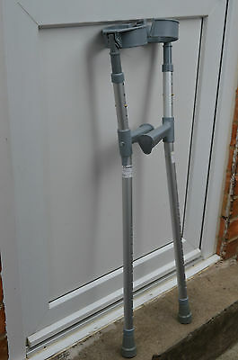 Pair of Cooper elbow double adjustable crutches