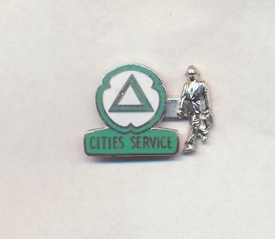 Rare 1950's Enamel Cities Service Oil Co. Executive On the Move formal lapel pin