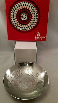 WMF CROMARGAN CHROME ART BOWL DECOR-A GERMANY DISH GEOMETRIC PATTERN with box