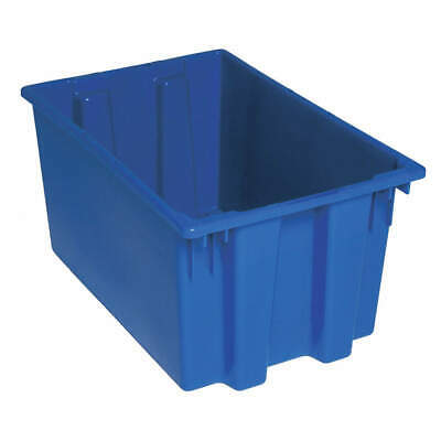QUANTUM STORAGE SYSTEMS Nest and Stack Container,23-1/2 in,Blue, SNT240BL, Blue