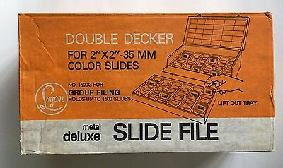 Logan Double Decker Metal Slide Box NOS