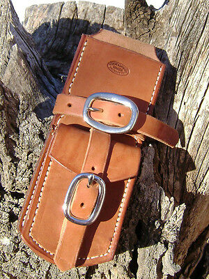 """Fence Plier SADDLE SCABBARD with STAPLE POCKET fits any 8"""" plier, Moore Maker"""