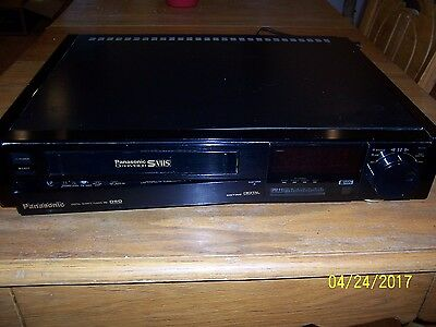 PANASONIC S-VHS HI-FI RECORDER S-4990 VCR TAPE DIGITAL for parts, no remote.
