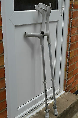Pair of    THUASNE elbow crutches with winter adjustment