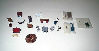 Large Dollhouse Lot - Miniature 144 SCALE FURNITURE & Accessories Collection