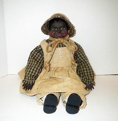 Black American Folk Art ARNETT DOLL - Rare Only 250 Made ARNETTS COUNTRY STORE