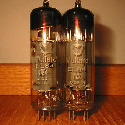 GOOD MATCHED PAIR 1970s MULLARD EL84 6BQ5 kM1 FULLY AVO-TESTED LEAK & VOX