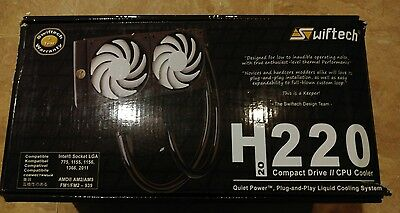 Swiftech H220 220mm liquid CPU cooler (USED)
