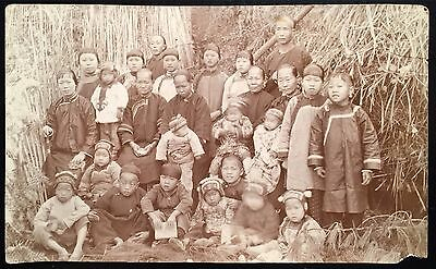 Group Of Chinese Farmers Early Postcard Style Photograph As Identified On Back