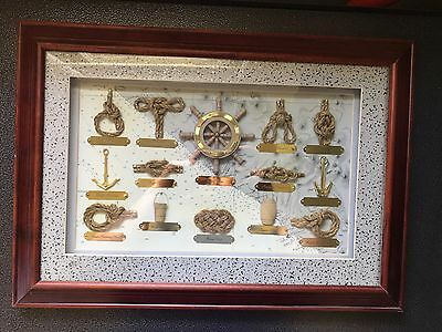 Nautical Knot Shadow Box Picture