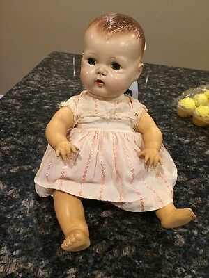 """Vintage 1950s 15"""" American Character Tiny Tears Doll Rubber Body"""