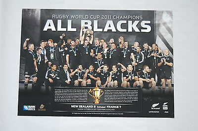 New Zealand All Blacks 2011 Rugby World Cup Champions Celebration Shot Print