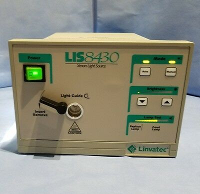 LINVATEC LIS8430 Xenon Light Source Tested Working
