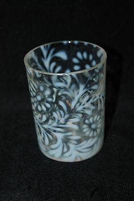 Beautiful Victorian Northwood Opalescent Daisy & Fern Tumbler 1890's