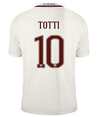 AS ROMA Away Soccer Jersey 10# TOTTI MEDIUM size